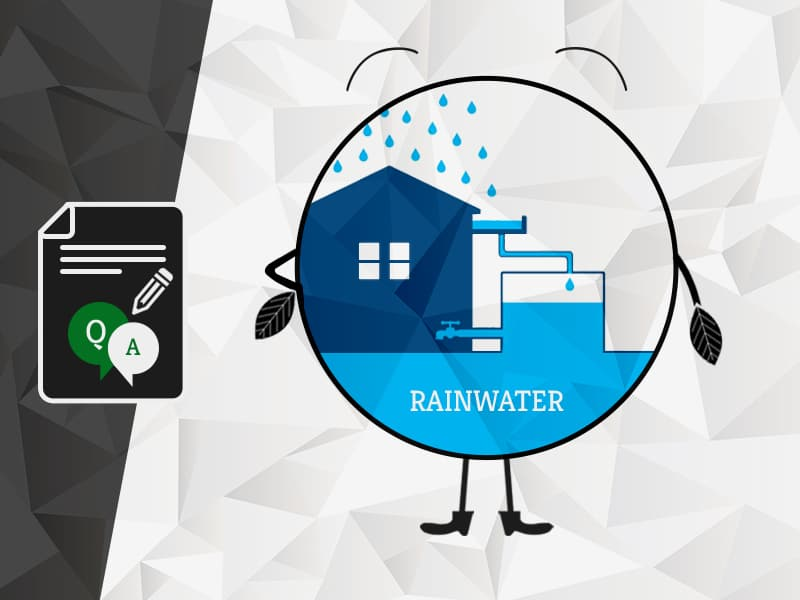 What type of filters are required for Rainwater Harvesting?
