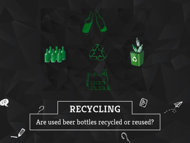 Are used beer bottles recycled or reused by GreenSutra